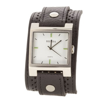 WATCH HERSA WIDE BLACK STRAP  HSC1004N