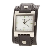 Bracelet de montre Hersa large noir  HSC1004N