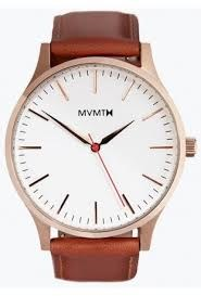 WATCH MAN MVMT 3 NEEDLES DIAL WHITE STRAP LEATHER MT01-WBR