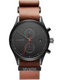 WATCH HOMRE MVMT STRAP LEATHER BLACK DIAL RED SECOND HAND D-MV01-BTL2