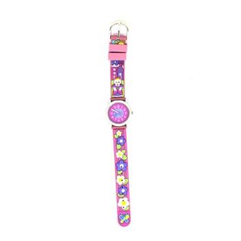Reloj infantil Jacques Farel Flores Rosa JF1203
