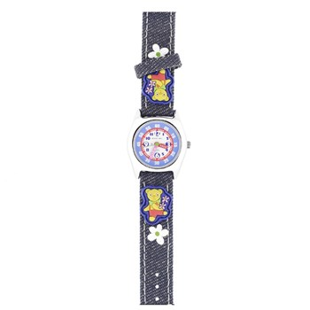 CHILD WATCH JACQUES FAREL BEAR FLOWERS JF1230