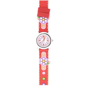 CHILD WATCH JACQUES RED FLOWERS JF1232 Jacques Farel