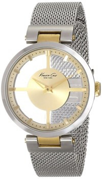 WATCH KENNETH COLE LADY ANALOG TRANSPARENT CASE AND BRACELET STEEL IKC4987