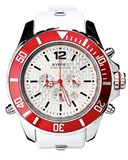 KYBOE 48MM WHITE RED CHRONO KYC006 WATCH / 48MM KYC006/48MM