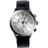 Reloj LC1098-SS001-11E analógico con correa de cuero negra Maurice Lacroix