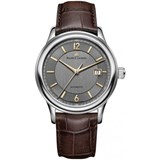 WATCH MAURICE LACRIX LC6098-SS0001-320-2, AUTOMATIC WITH LEATHER STRAP, BROWN, MAURICE LACROIX