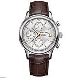 MAURICE LACROIX WATCH LC6158-SS001-130-1 WITH LEATHER STRAP BROWN.