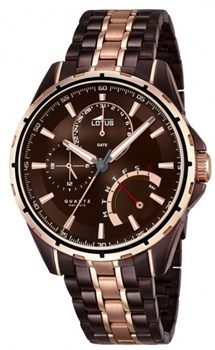 WATCH LOTUS CAB. MULTIFUNCTION STEEL ESF CHOCOLATE 18206 / 1 18206/1
