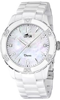 af4c63eea513 LOTUS 15929-1 WHITE CERAMIC WATCHES