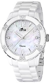 LOTUS 15929-1 WHITE CERAMIC WATCHES