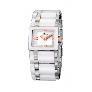 WATCH LOTUS CERAMIC WHITE SRA. 15597/2