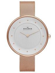 Reloj malla milanesa color cobre SKW2142 Skagen