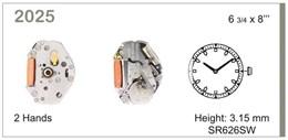 Maquinaria de reloj Ref MIYOTA 2025 Diloy MRMIY002025