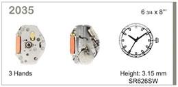 Maquinaria de reloj Ref MIYOTA 2035 Diloy MRMIY002035