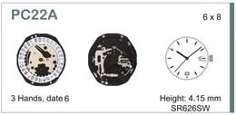 Maquinaria de reloj Ref SEIKO 22D6 Diloy MRHATPC22D6