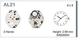 Maquinaria de reloj Ref SEIKO AL21 Diloy MRHAT00AL21