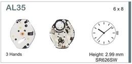 Maquinaria de reloj Ref SEIKO AL35 Diloy MRHAT00AL35