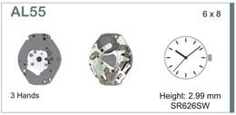 Maquinaria de reloj Ref SEIKO AL55 Diloy MRHAT00AL55