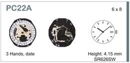 Maquinaria de reloj Ref SEIKO PC22 Diloy MRHAT00PC22