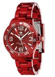 WATCH UNISEX'S POLYCARBONATE RED METALLIC B35237 / 14 TIDE Marea B35237/14