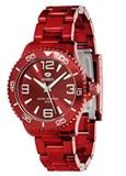 Reloj unisex  de policarbonato rojo metalizado B35237/14 Marea