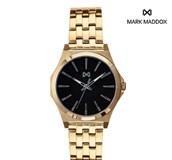 RELOJ MARK MADDOX ACERO CON BAÑO ORO HM7103-57