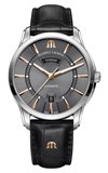 MAURICE LACROIX WATCH PT6358-SS0001-331-1 STRAP OF BLACK LEATHER