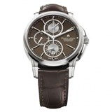 WATCH MAURICE LACROIX AUTOMATIC CHRONOGRAPH PT6188-SS001-730CAJA STAINLESS STEEL WITH LEATHER STRAP