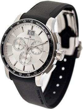 WATCH MI1098-SS041-130 ANALOG WITH BLACK RUBBER STRAP MAURICE LACROIX