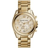MICHAEL KORS STEEL BATH YELLOW GOLD AND ZIRCONS MK5166 MK5166/1