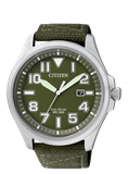 WATCH MILITARY ECO DRIVE STEEL GREEN MAN AW1410-32X CITIZEN