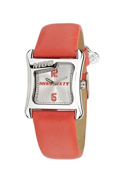 RELOJ MISS SIXTY M60 2H WHITE DIAL RED STT002