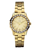 WATCH WOMAN'S STAINLESS STEEL YELLOW DIAL SWAROVSKI W0018L2 GUESS