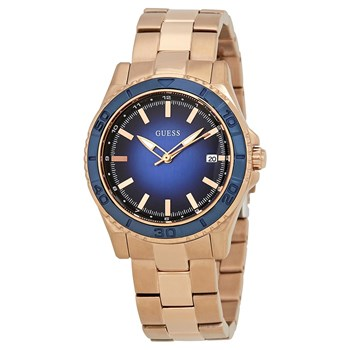 WATCH WOMAN STAINLESS STEEL PINK DIAL BLUE W0469L2 GUESS