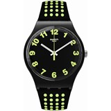 WATCH BLACK AND GREEN SUOB147 SWATCH