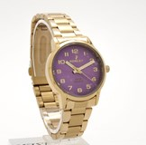 WATCH NOWLEY CHIC GOLD TONE DIAL PURPLE 8-5494-0-3