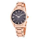 Reloj oro rosa mujer, esfera gris 8435432511640 Devota & Lomba