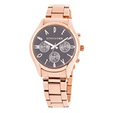 WATCH ROSE GOLD WOMEN, GRAY DIAL 8435432511701 DEVOTA AND LOMBA Devota & Lomba