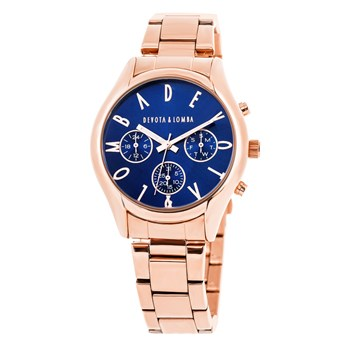 MONTRE OR ROSE FEMME, ZONE MARINE 8435432511695 DEVOTA & LOMBA