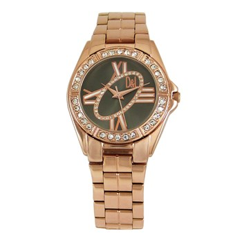 WATCH ROSE GOLD WOMEN, BLACK DIAL 8435432512944 DEVOUT AND LOMBA DEVOTA & LOMBA Devota & Lomba