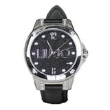 PARIS BLACK LEATHER WATCH TLJ642 Liu Jo