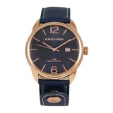 LEATHER MEN WATCH, BLUE DIAL 8435432512203 DEVOTA & LOMBA