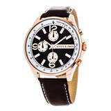 LEATHER MEN WATCH, BLACK DIAL 8435432511909 DEVOTA & LOMBA