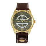 LEATHER MEN WATCH, BLACK DIAL 8435432512241 DEVOTA & LOMBA