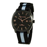LEATHER MEN WATCH, BLACK DIAL 8435432513118 DEVOTA & LOMBA