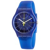 Blue plastic watch suon142 Swatch
