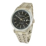 WATCH SILVER MAN, SPHERE BLACK 8435334800125 DEVOTA & LOMBA