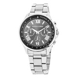 WATCH SILVER MAN, BLACK DIAL 8435432511824 DEVOTA AND LOMBA Devota & Lomba