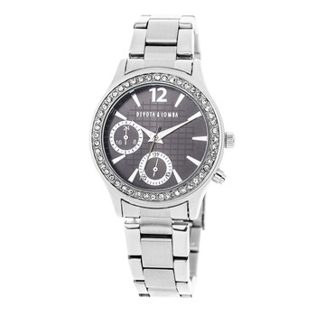 SILVER WATCH, BLACK DIAL 8435432511558 DEVOTA & LOMBA